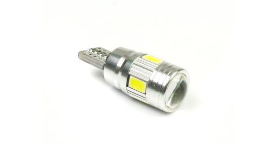 LED auto žárovka LED W5W T10 6 SMD 5630 SUPER CAN BUS S ČOČKOU